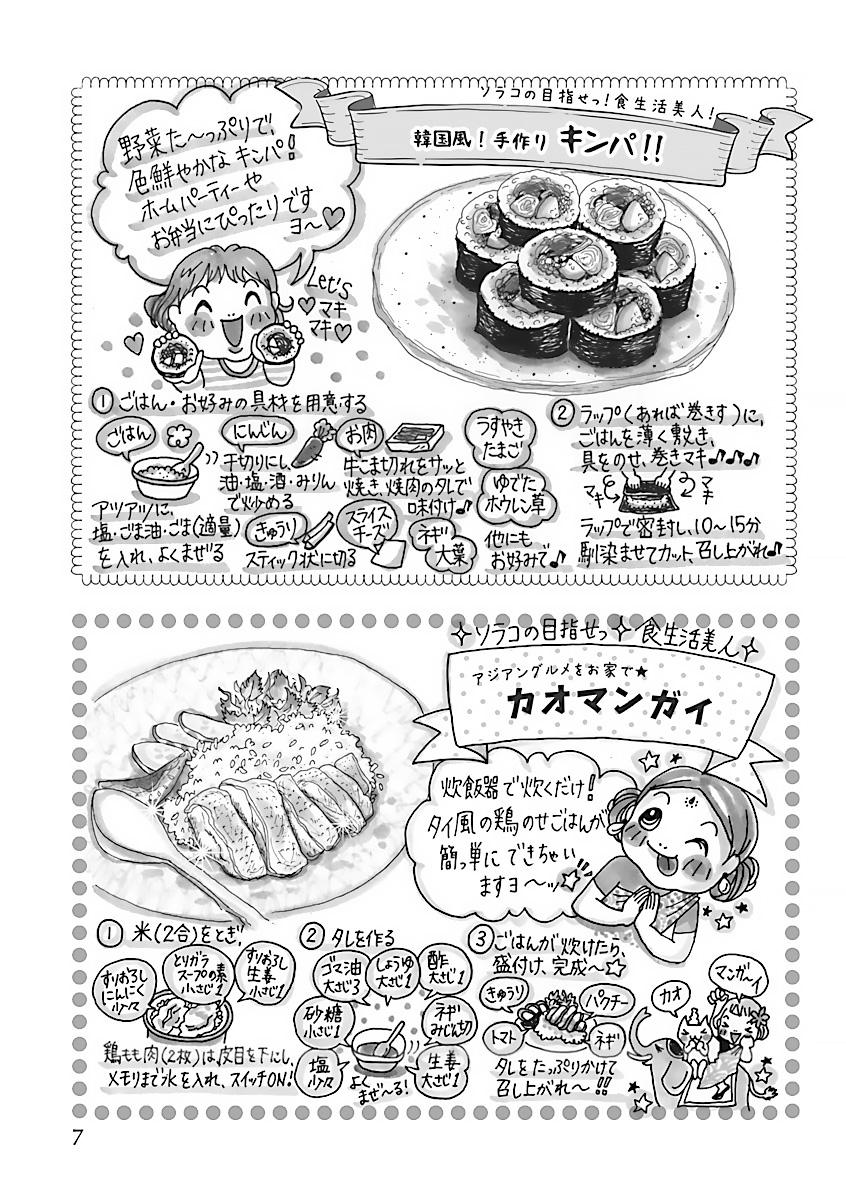 「目指せっ!食生活美人!ソラコのレシピ集」